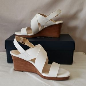 New with box Cole Haan white leather sandals